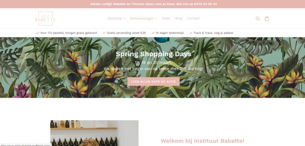 screenshot webshop instituutbabette