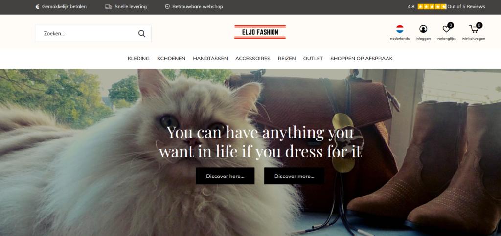 screenshot webshop eljo fashion