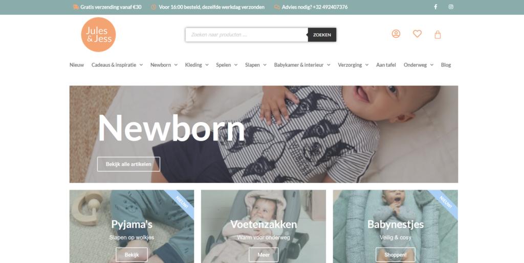 Screenshot webshop jess&jules
