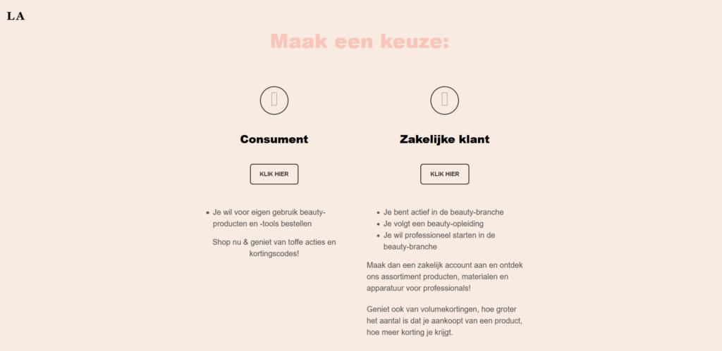 screenshot website lesley an poppe
