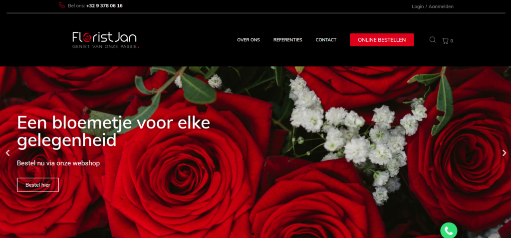 Florist Jan Webshop screenshot