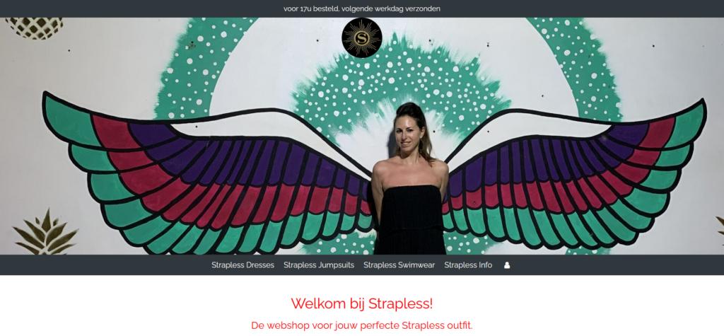 screenshot webshop strapless